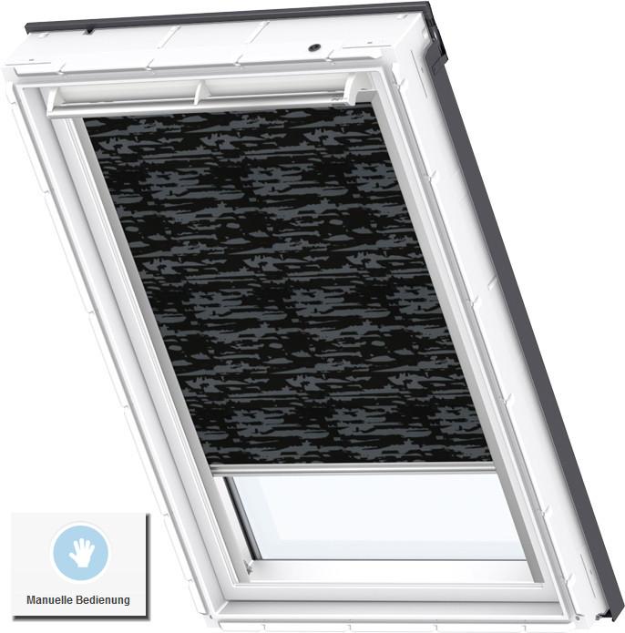 velux verdunkelungsrollo dkl y85 manuell kunststoff fenster vu vku ebay. Black Bedroom Furniture Sets. Home Design Ideas